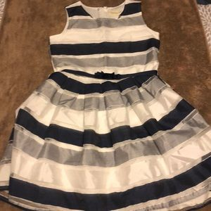 Sweet Navy and white striped dress size 12
